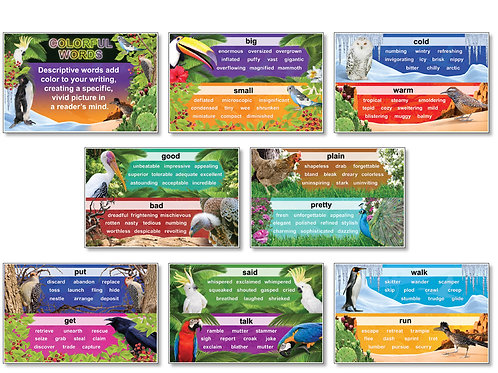 Colorful Words Bulletin Board Set