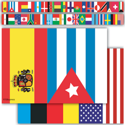 International Flags Straight Border