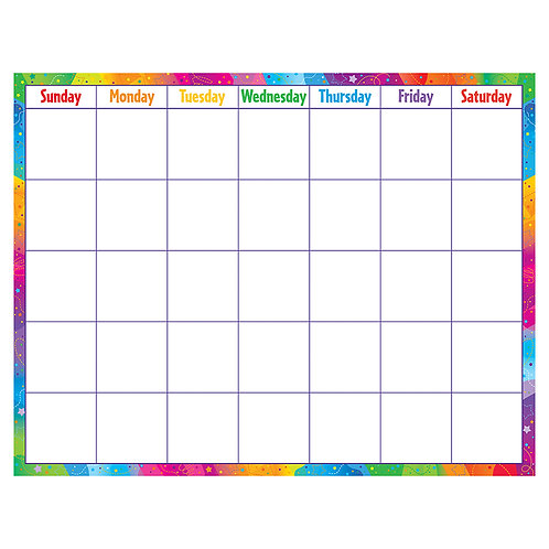 Reusable Calendar (Cling Accents) Wipe-Off® Kit