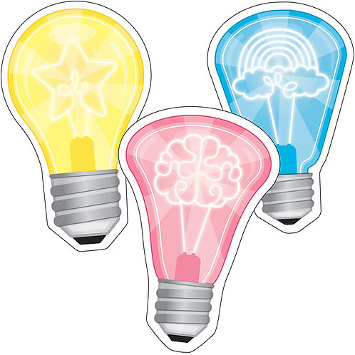 Light Bulbs Cut-Outs (Glow in the dark)