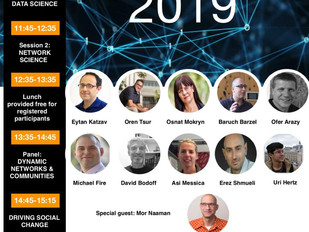 Network Science conference in Israel - 8 July. 2019