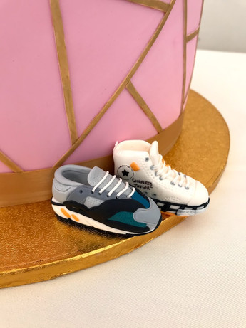 Hand modelled miniature trainers