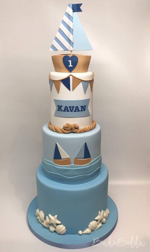 3 Tier Nautical 1st Birthday