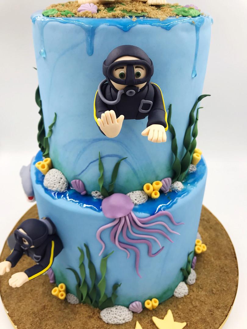 Scuba Diver wedding cake