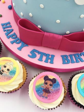Rainbow LOL Cupcakes