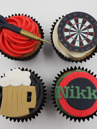 Dart Cupcakes