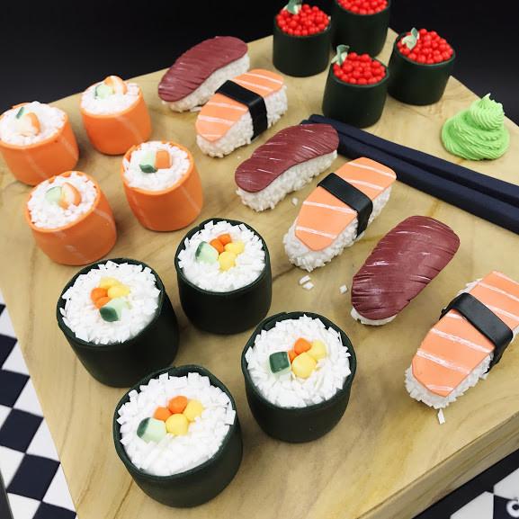 Sushi Board Cake