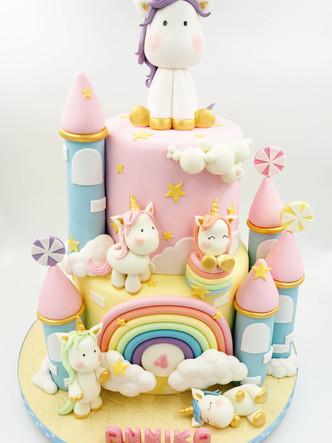 Unicorn Castle Cake