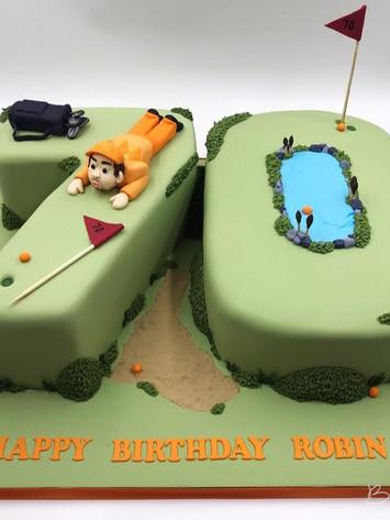 70th Golf Cake