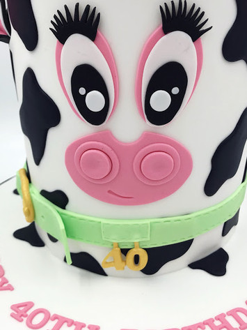 Birthday Cow Head Cake