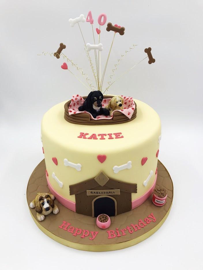 40th Dog Themed Cake