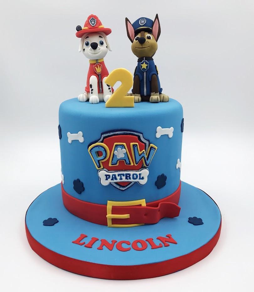 Paw Patrol Chase & Marshall Cake
