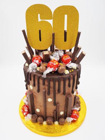 60th Drip Cake