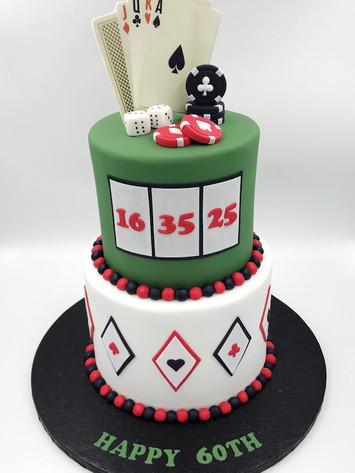 2 Tier Poker Cake