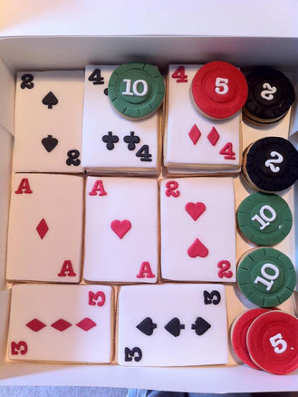 Playing Cards & Poker Chip Biscuits
