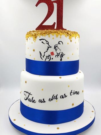 Beauty and The Beast 21st Cake