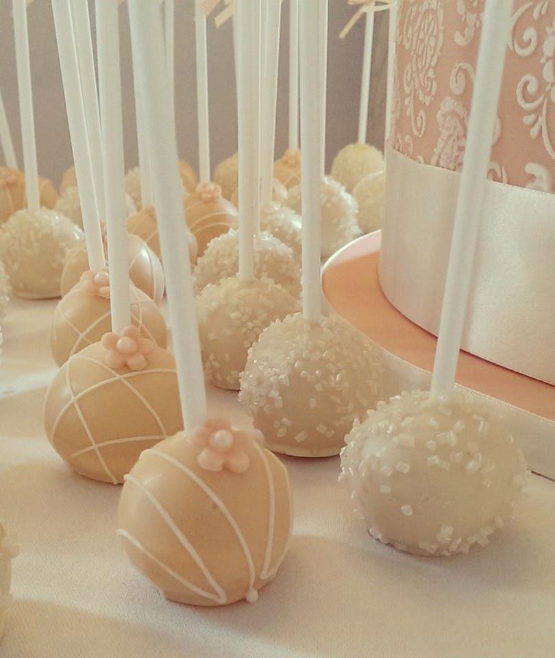 Ivory & Rose Cake Pops