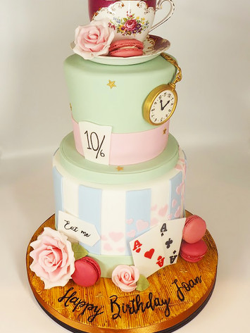 Mad Hatter Tea Party 90th Birthday Cake