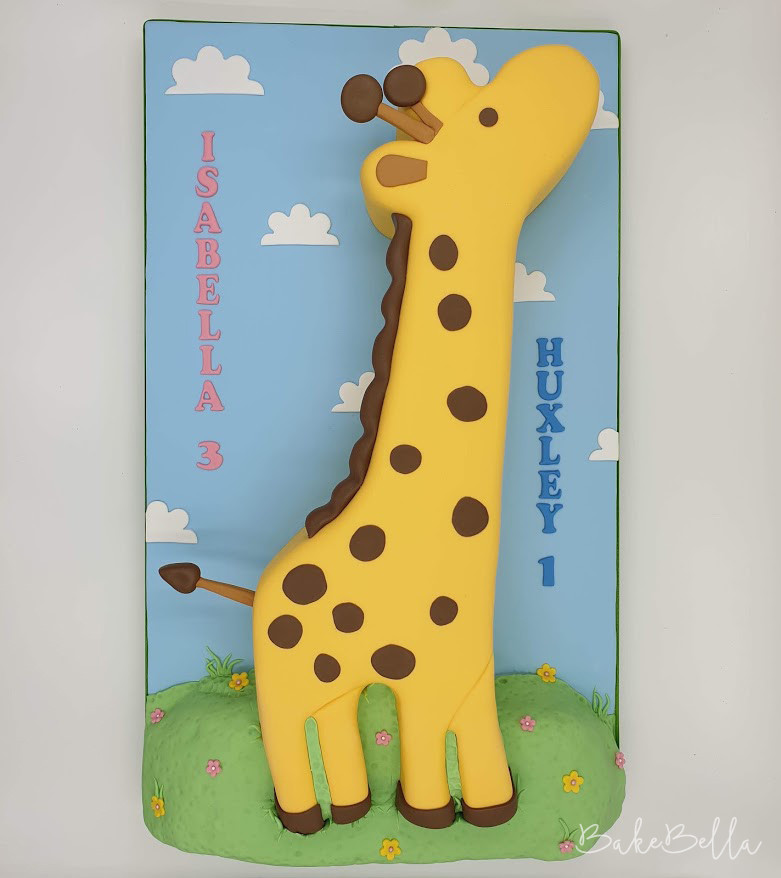 2D Birthday Giraffe