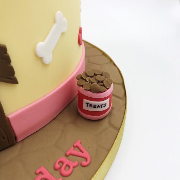 Fantastic 40Th Dog Themed Cake Funny Birthday Cards Online Bapapcheapnameinfo