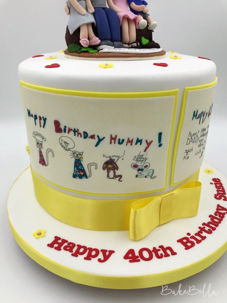 Personalised 40th Birthday Cake