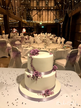 2 Tier Ivory & Lilac Floral