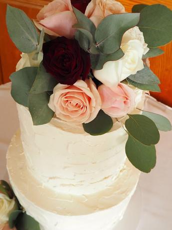 2 Tier Rustic Swiss Meringue Cake