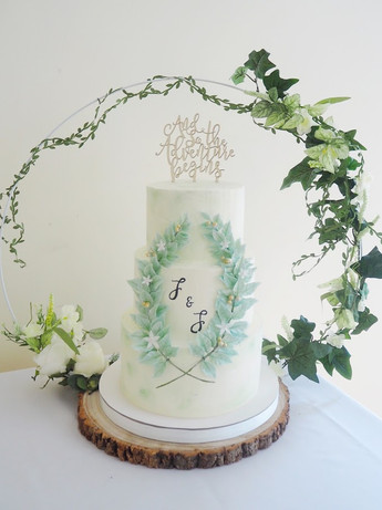 3 Tier Mint Buttercream Garland Cake