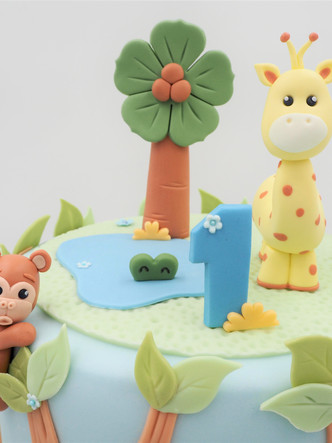 1st Birthday Jungle Cake