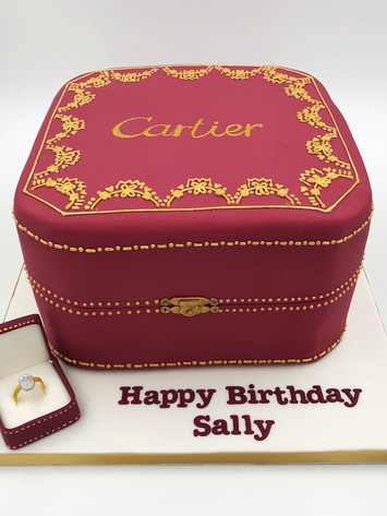 Cartier Gift Box Cake