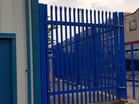 Blue Steel Palisade Gate