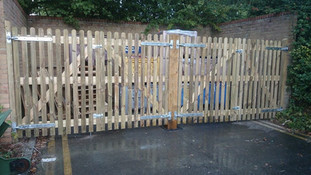 Wood Palisade Gates