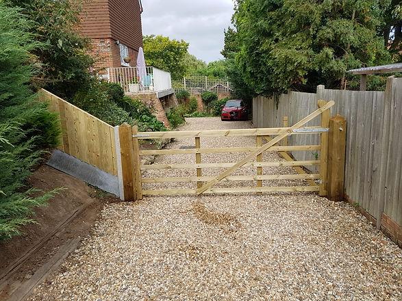 5 Bar Gate Driveway Fencing