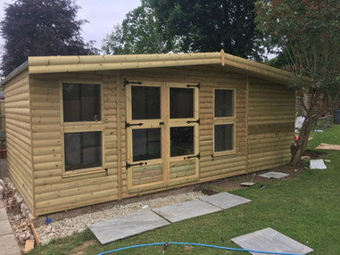 Summerhouse With Side Storage