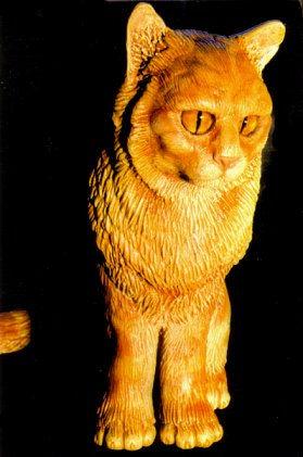 'Rusty' ginger cat sculpture