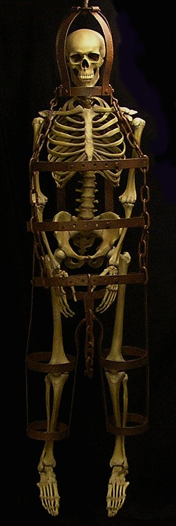 full view of the gibbet and victim