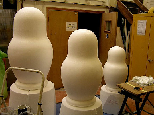 giant Russian Doll figures