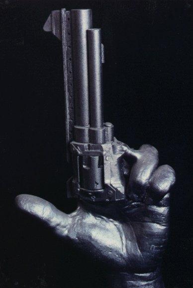 handgun sculpture