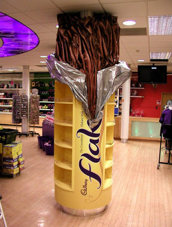 giant Cadbury Flake shelving unit