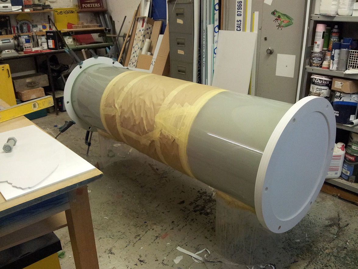 display tube under construction