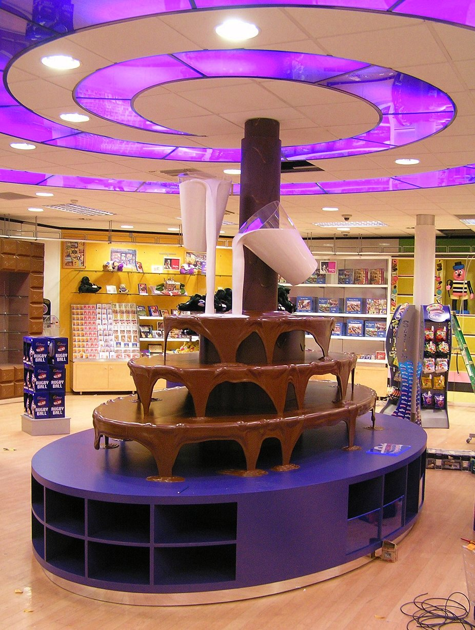 giant chocolate fountain