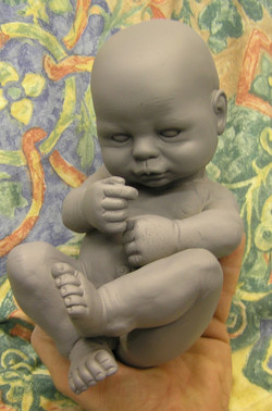 baby for Dickens World exhibit