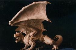 ice dragon sculpture