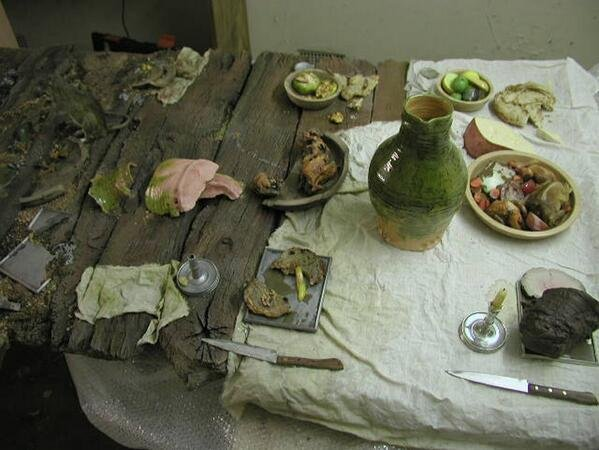 decay-in-progress Viking dinner tabl
