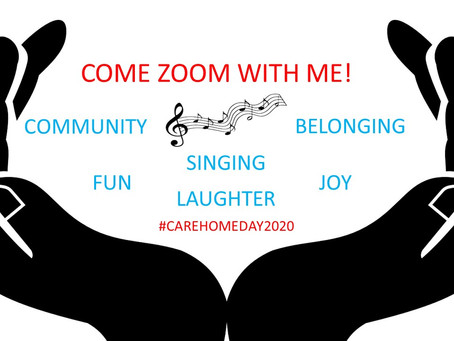 "REFLECTIONS OF CARE HOME DAY 2020 AND ""COME ZOOM WITH ME!"""