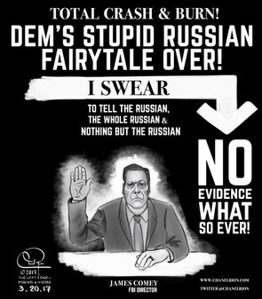 Comey Swears to tell the Russian, The Whole Russian & Nothing but the Russian