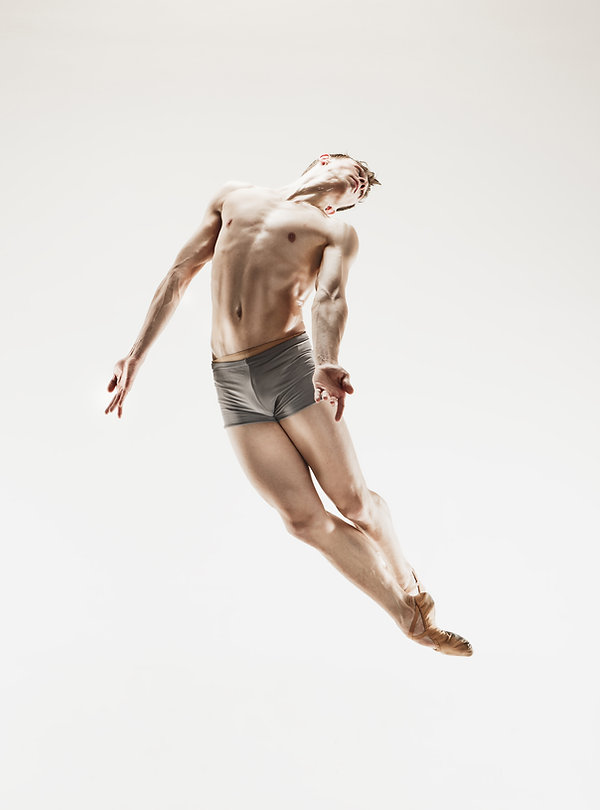 The male athletic ballet dancer performi