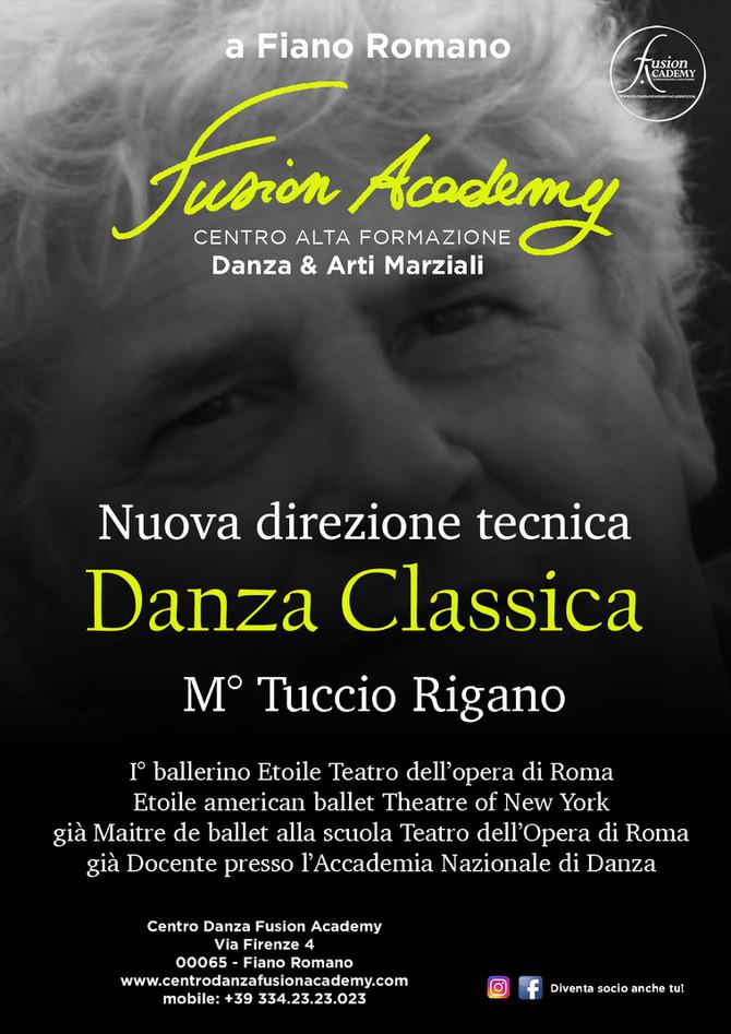 Il M° Tuccio Rigano insegnerà alla Fusion Academy