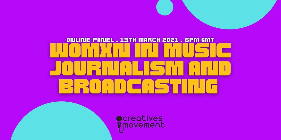 Womxn In Music Journalism And Broadcasting Panel