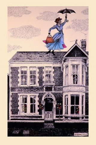 Private Commission - Cardiff House with Mary Poppins